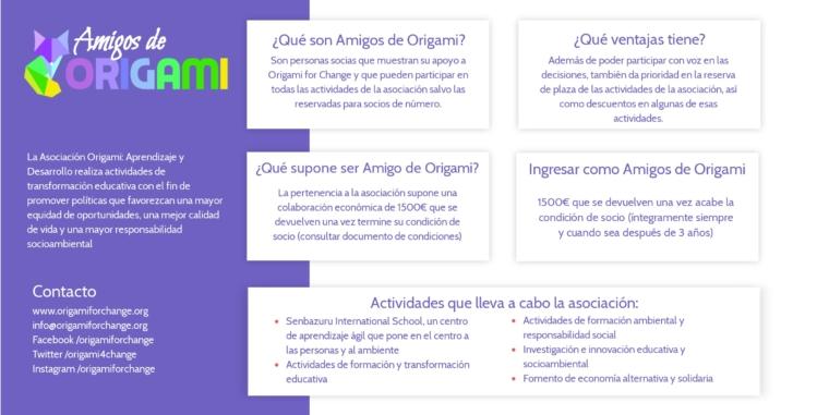 Personas socias «Amigos de Origami»
