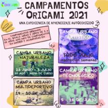 Campamentos Origami 2021 en la Sierra de Guadarrama