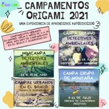 Campamentos Origami 2021 en Madrid